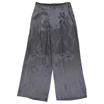 John Galliano \N Grey Silk Trousers