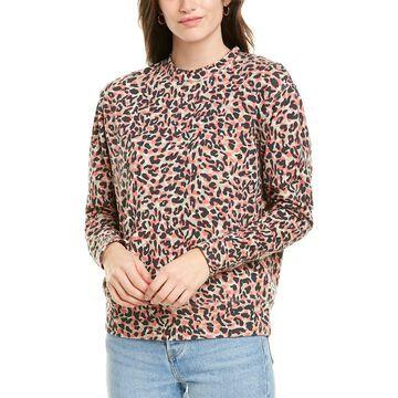 Monrow Animal-Print Boyfriend Sweatshirt