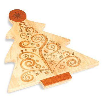 Christmas Tree Cheese Board, Wood