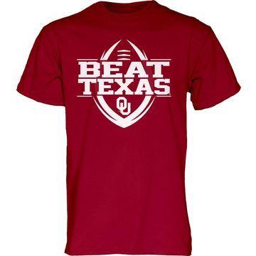 Blue 84 Men's Oklahoma Sooners Crimson Beat Texas' Football T-Shirt