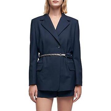 Maje Ville Belted Tailored Jacket