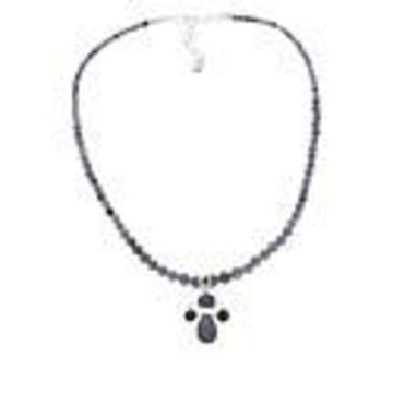Mine Finds by Jay King Sterling Silver Tanzanite Pendant with Bead Necklace