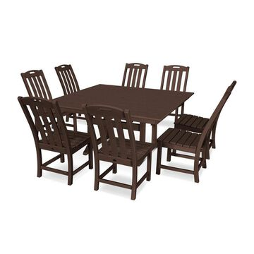 Trex Outdoor Furniture Yacht Club 9-Piece Brown Frame Dining Patio Dining Set with Dining