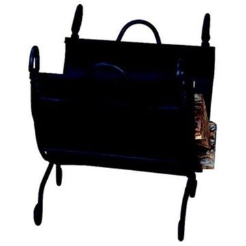 Uniflame Ring Swirl Black Log Rack With Canvas Carrier