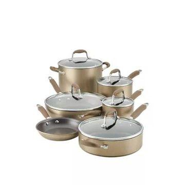 Anolon Advanced Home Hard-Anodized Nonstick 11-Piece Cookware Set, Bronze -
