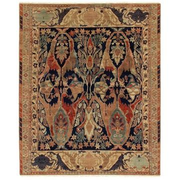 Exquisite Rugs Empire Beige / Multi New Zealand Wool Rug - 4' x 6'