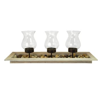 Pomeroy Kona Candle Holder Tray 4-piece Set