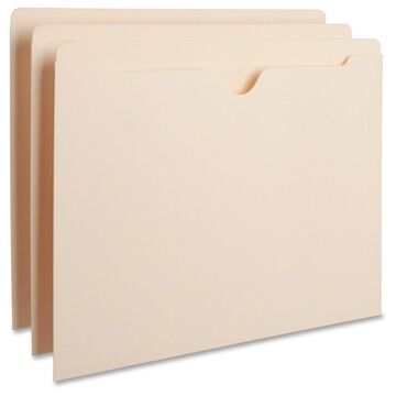 Business Source Manila Flat File Pockets - Letter - 8 1/2