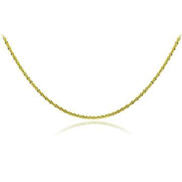 Mondevio 14k Yellow Gold 1.6mm Diamond Cut Rope Chain Necklace (18 Inch)