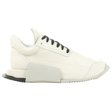 Rick Owens White Leather Trainers