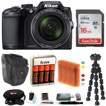 Nikon COOLPIX B500 Digital Camera w/ 16GB USB Accessory Bundle