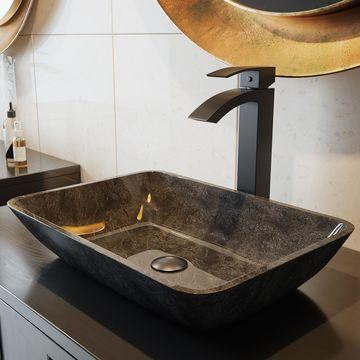 VIGO Duris Solid Brass Vessel Bathroom Faucet