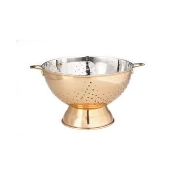 Old Dutch International Decor Copper Footed Colander and Centerpiece