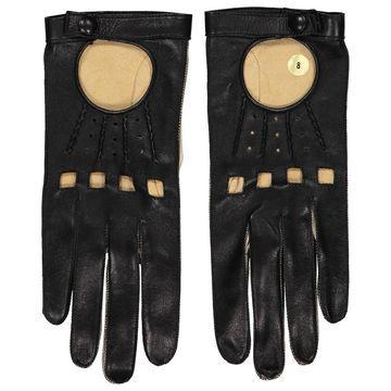 Apc \N Black Leather Gloves