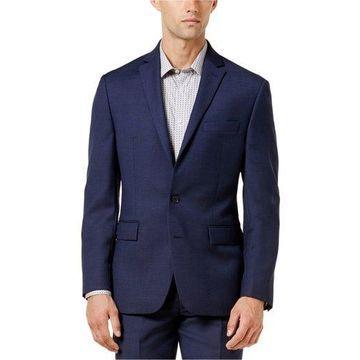 Ryan Seacrest Distinction Mens Birdeye Two Button Blazer Jacket