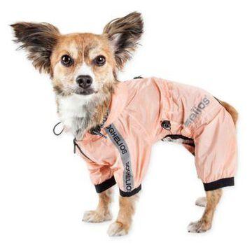 Pet Life Torrential Shield Large Full Body Dog Windbreaker Raincoat in Pink