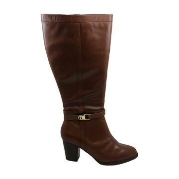 Giani Bernini Womens Rozario Leather Closed Toe Knee High Fashion Boots