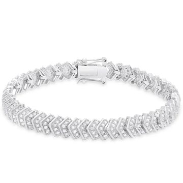 Finesque Sterling Silver 2 ct TDW Diamond Bracelet