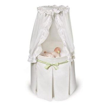 Badger Basket Empress Round Baby Bassinet, White