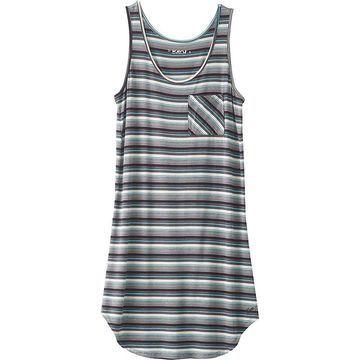 KAVU Women's Leonora Dress - Medium - Carbon Stripe