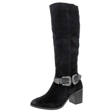 Naughty Monkey Womens Natasha Knee-High Boots Suede Tall