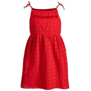 Toddler Girls Eyelet Tie Dress, Created for Macy's