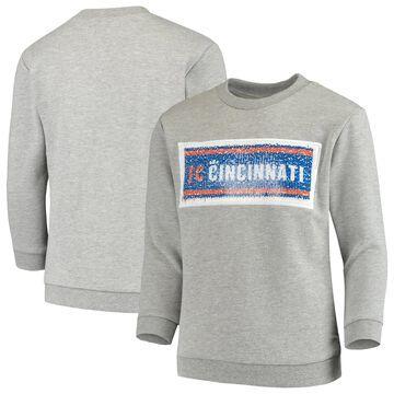 Girls Youth ZooZatz Gray FC Cincinnati Inverse Pullover Sweatshirt