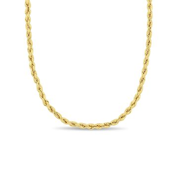10kt Yellow Gold 3mm Rope Chain Necklace
