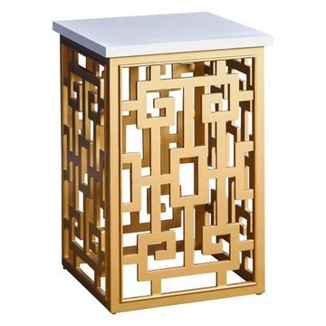 Abbyson Living Mayer End Table, Gold