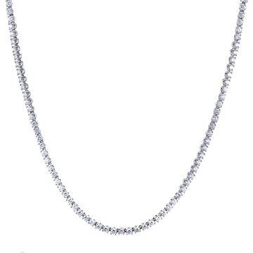 Bvlgari Womens White Gold Diamond Tennis Collar Necklace