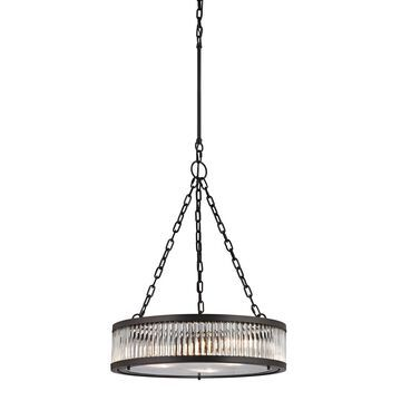 Elk Lighting Linden Oil-rubbed Bronze and Clear Glass 3-Light Pendant