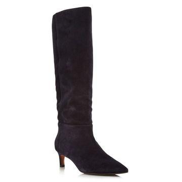 Aquatalia Womens Macey Suede Pointed Toe Knee High Fashion Boots - 9
