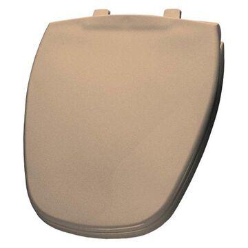 Bemis 1240200 213 Plastic Round Toilet Seat, Peach Bisque