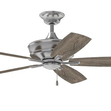 "Craftmade 56"" Sloan Ceiling Fan in Brushed Polished Nickel w/Blades & Light Kit"