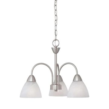 Thomas Lighting Tia 3-Light Matte Nickel Traditional Chandelier   190005117