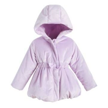 First Impressions Toddler Girls Velvet Bubble Coat, Created For Macy's