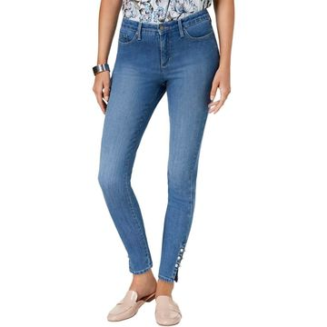 Charter Club Womens Denim Embellished Skinny Jeans