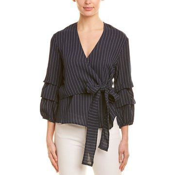 Minkpink Womens Ruched Wrap Top
