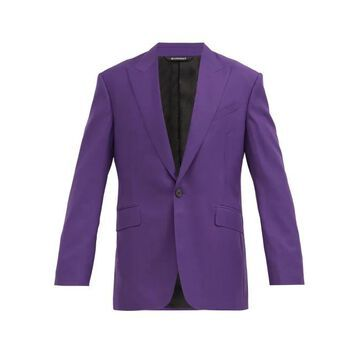 Givenchy - Single-breasted Wool-twill Suit Jacket - Mens - Purple