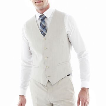 JF J. Ferrar End on End Suit Vest - Slim Fit
