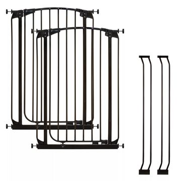 Dreambaby& Chelsea Tall Auto Close Stay Open Security Gate in Black (Set of 2)