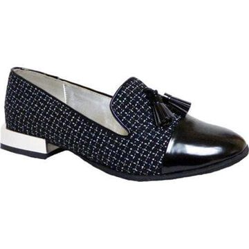 Women's Bellini Bainbridge Tassel Loafer Black/White Boucle Fabric