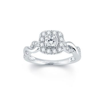 Modern Bride Signature 3/4 CT. T.W. Diamond 14K White Gold Engagement Ring