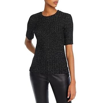 Enza Costa Sparkle-Knit Top
