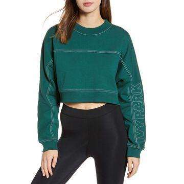 IVY PARK(R) Stab Stitch Logo Crop Sweatshirt