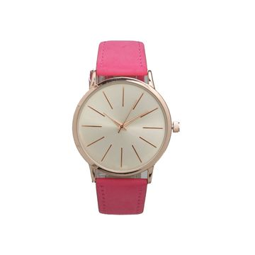 Olivia Pratt Womens Pink Strap Watch-16243