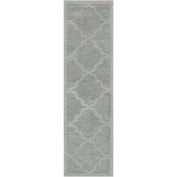 Artistic Weavers Central Park Abbey 2'3 x 10' Handcrafted Runner in Light Blue
