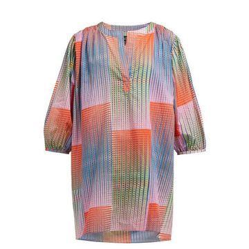 Saloni - Printed Cotton Dress - Womens - Multi