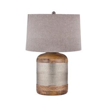 Dimond Lighting German Silver Drum Table Lamp