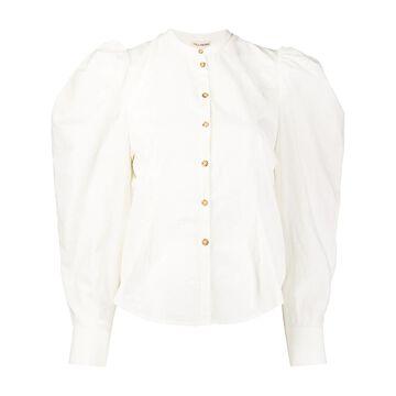 Willa balloon-sleeved blouse